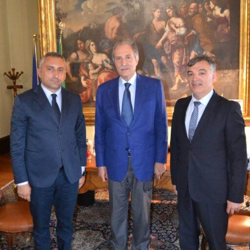 I due presidenti della Provincia di Potenza e Matera col Presidente della Regione Basilicata Vito Bardi