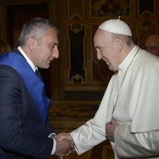 I due presidenti della Provincia di Potenza e Matera con Papa Francesco