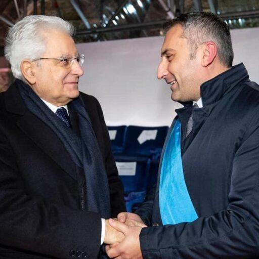 Pres. Marrese e Presidente della Repubblica Italiana Sergio Mattarella