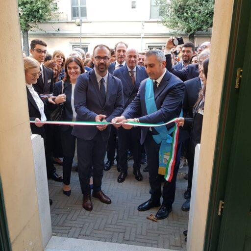 Pres. Marrese ed ex Ministro della Pubblica  Istruzione dott. Fioramonti inaugurano l'Ufficio Scolastico Provinciale a Matera